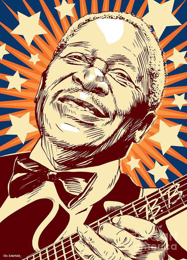 Blues Digital Art - B. B. King by Jim Zahniser