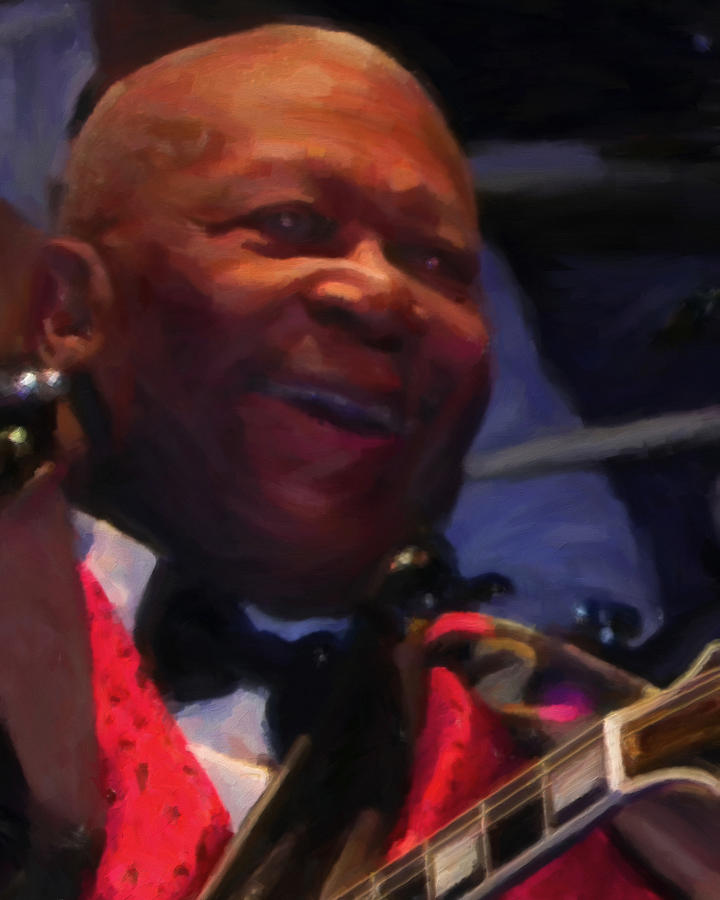 Blues Painting - B. B. King by Michael Pickett