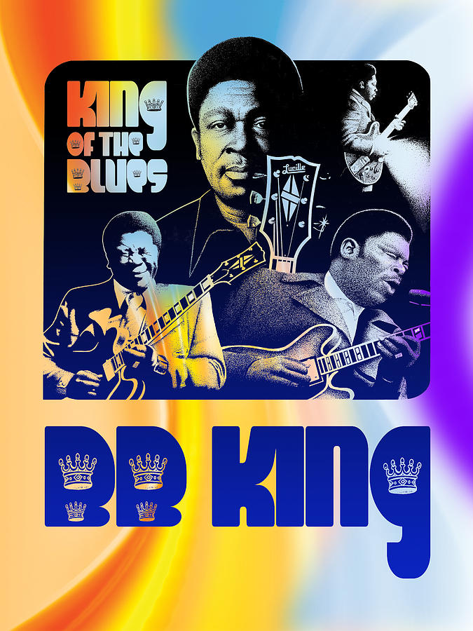 B. B. King Poster Art Mixed Media by Robert Korhonen