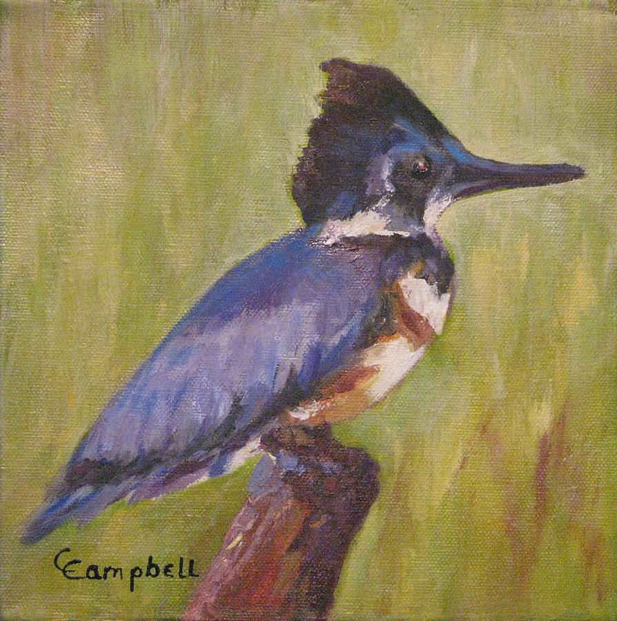 Kingfisher Painting - B BKingfisher I by Cecelia Campbell
