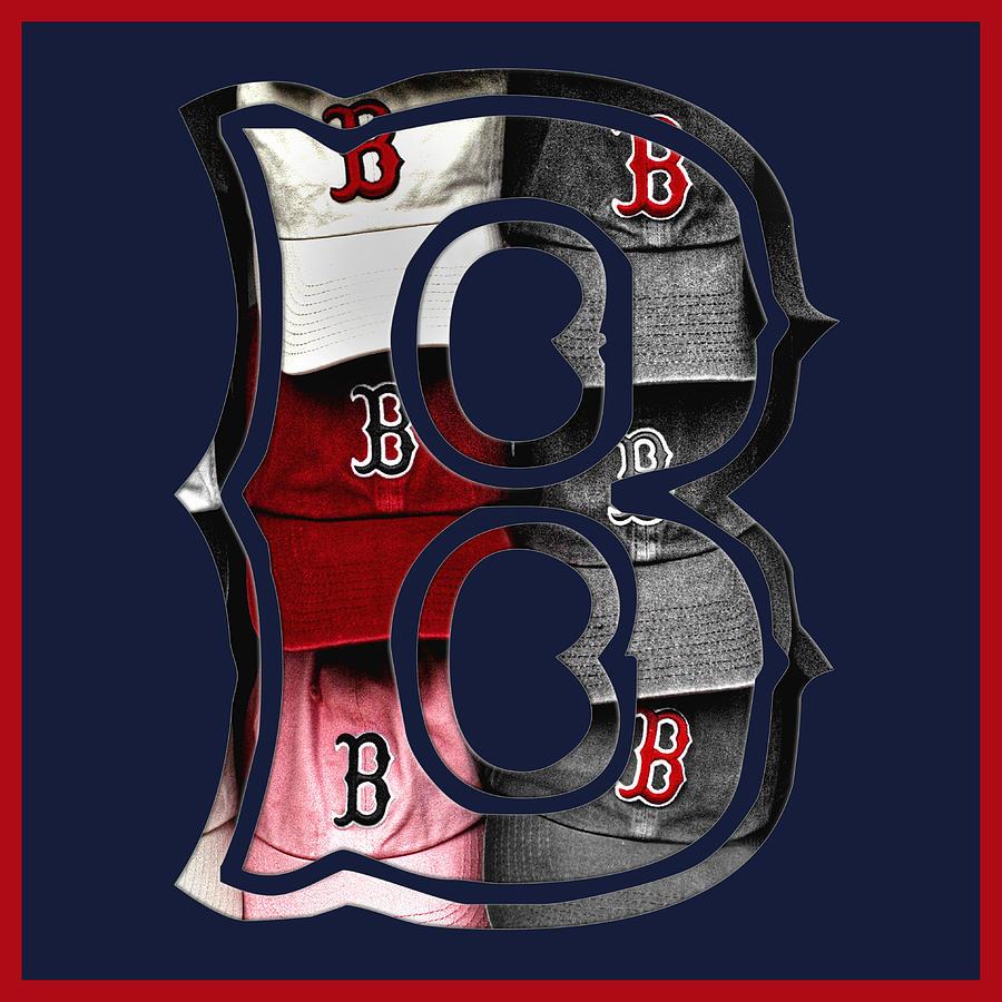 Boston Photograph - B For Bosox - Boston Red Sox by Joann Vitali