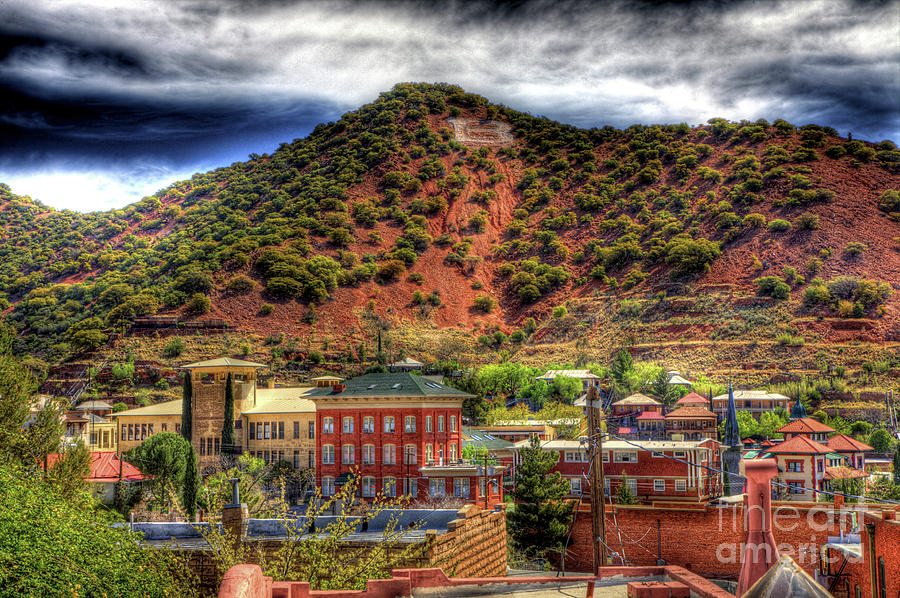 B Hill Over Historic Bisbee Photograph