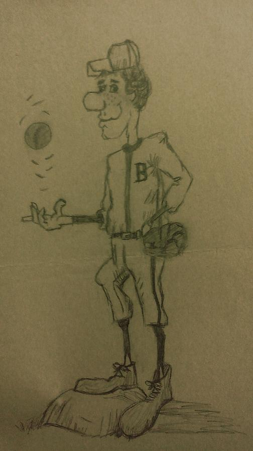 Sports Drawing - B Is For Baseball by Christy Saunders Church