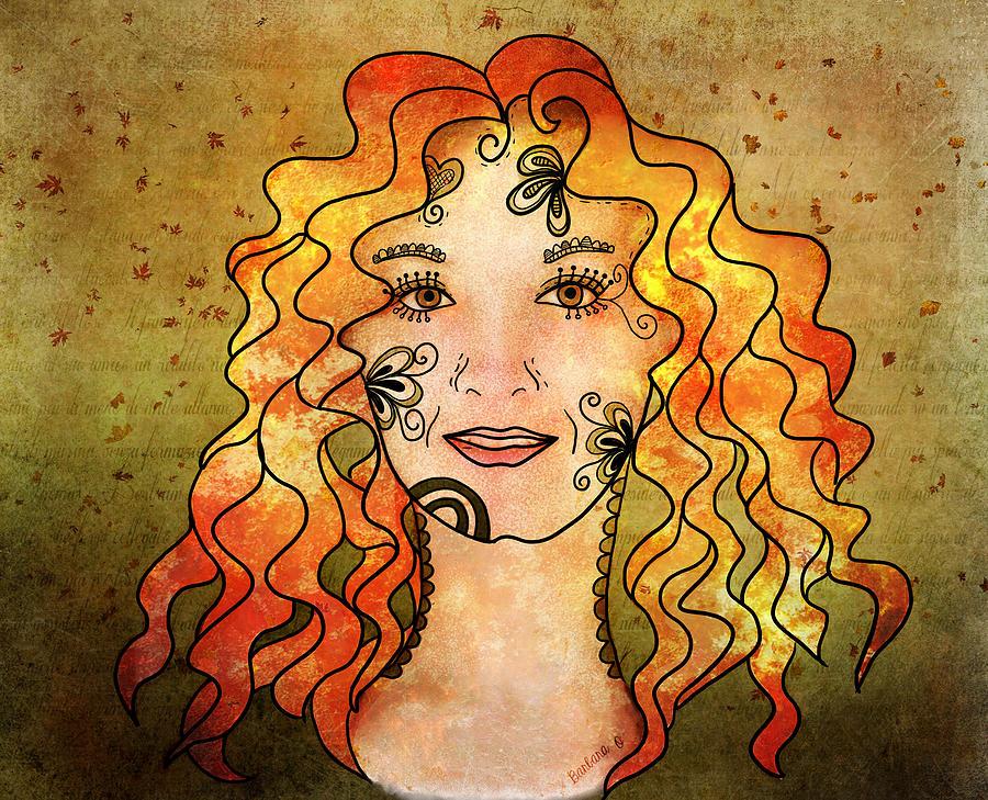 Portrait Digital Art - B. The Poem by Barbara Orenya