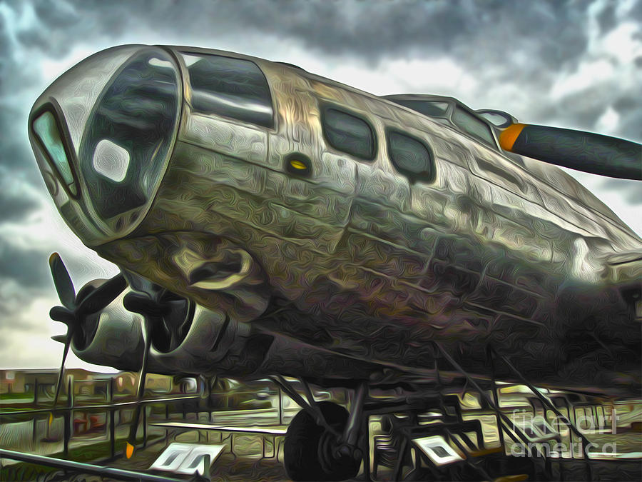 B17 Bomber Painting - B17 Bomber by Gregory Dyer