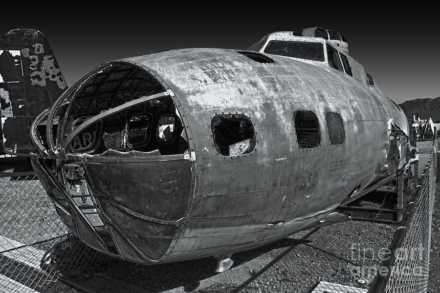 Airplanes Photograph - B17 Derelict Airplane - 02 by Gregory Dyer