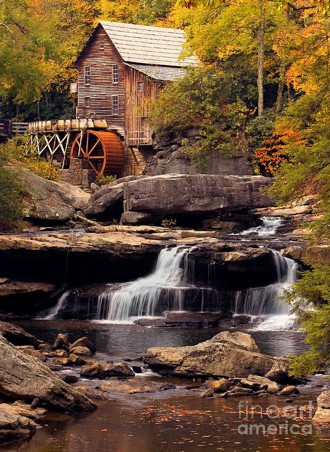 Fall Photograph - Babcock Grist Mill And Falls by Jerry Fornarotto
