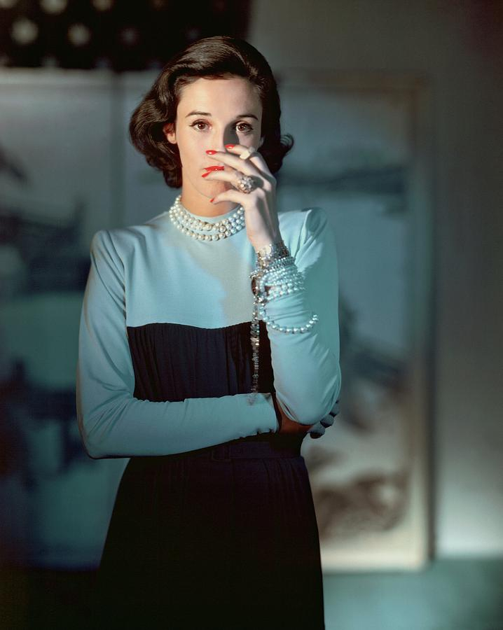Babe Paley Wearing A Traina-norell Dress Photograph by Horst P. Horst
