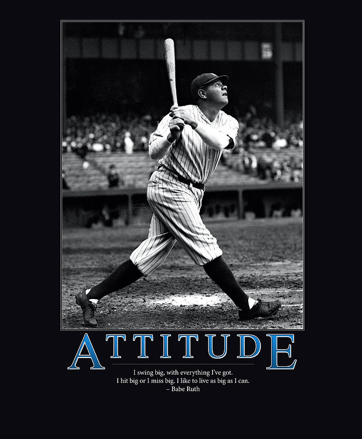 Mlb Photograph - Babe Ruth Attitude  by Retro Images Archive