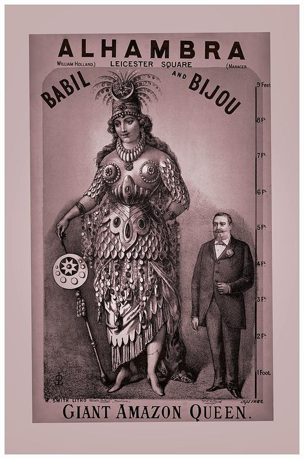 Victorian Digital Art - Babil And Bijou - Giant Amazon Queen by Maciek Froncisz