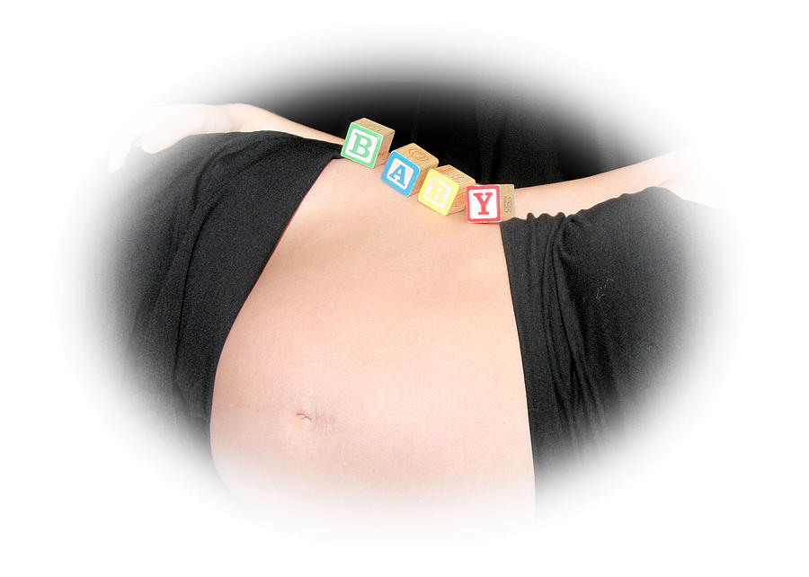 Belly Photograph - Baby Blocks Color Vignette by Melissa Kimball