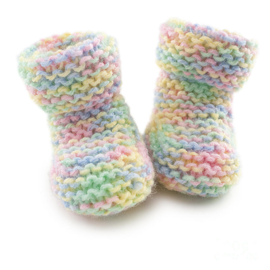 Baby Booties In Multi Coloured Yard Photograph by Colin ...