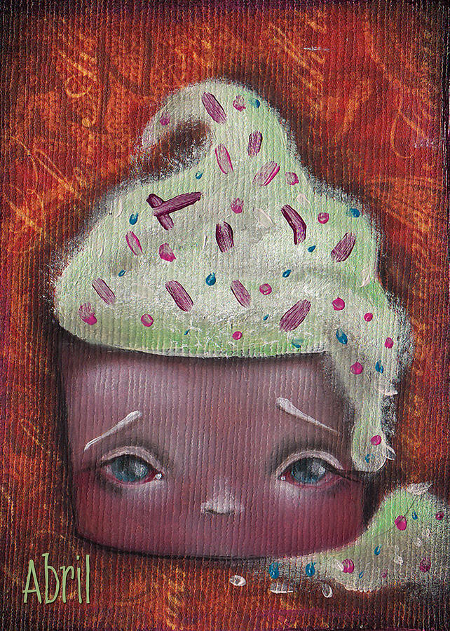 Cupcake Painting - Baby Cakes II by Abril Andrade Griffith