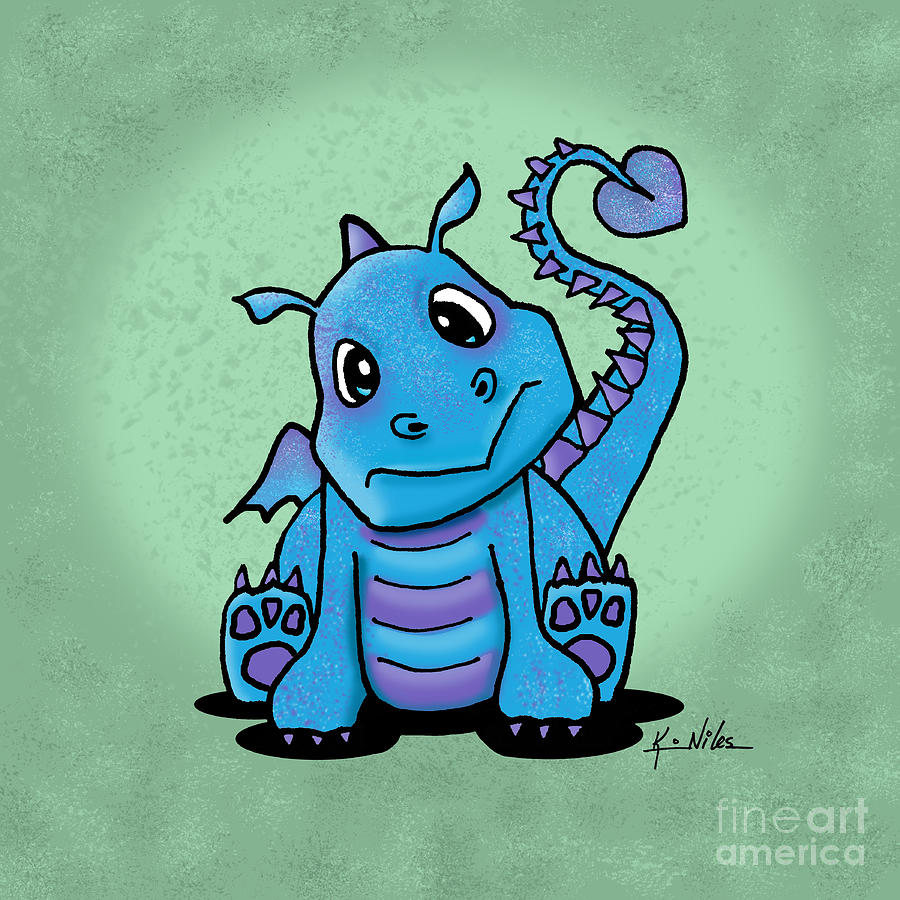 Dragon Digital Art - Baby Dragon by Kim Niles