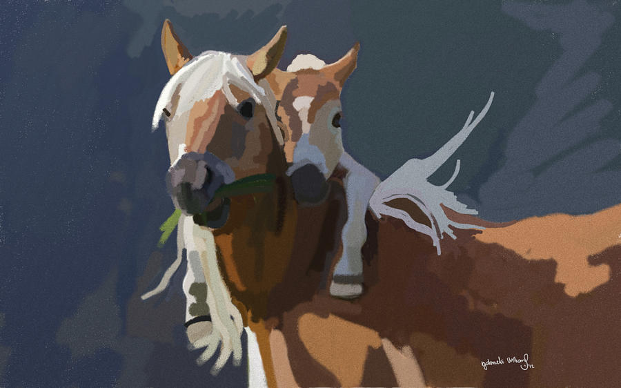 Baby Painting - Baby Horse by Nydia Williams