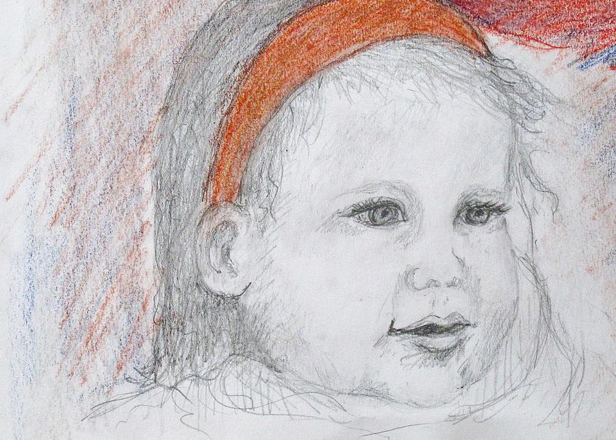 Baby Josephine Drawing by Barbara Anna Knauf