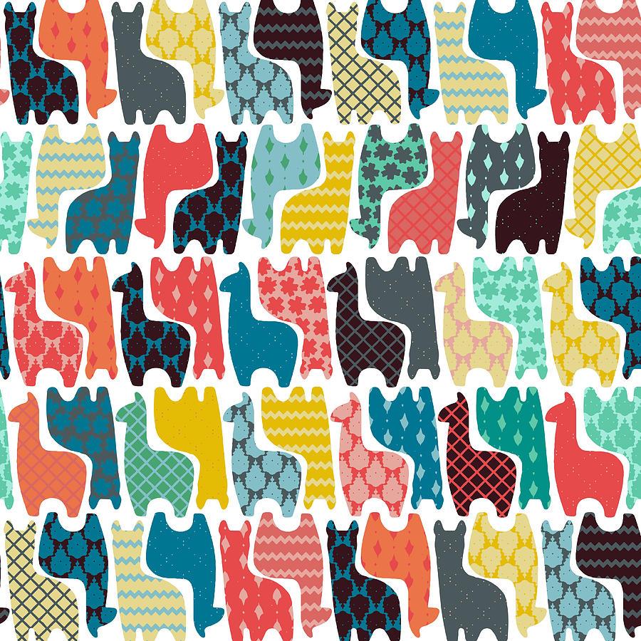 Llama Drawing - Baby Llamas by MGL Meiklejohn Graphics Licensing