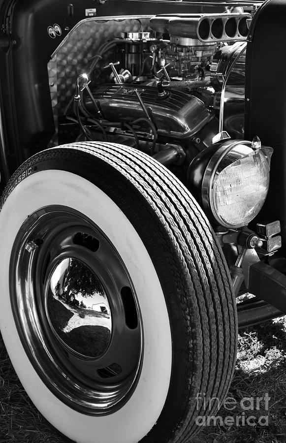 Classic Cars Photograph - Baby Moons Bw by Mel Steinhauer