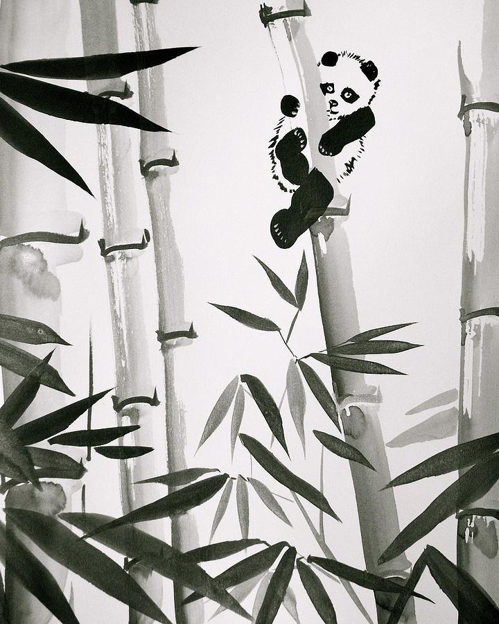 Baby Panda Painting