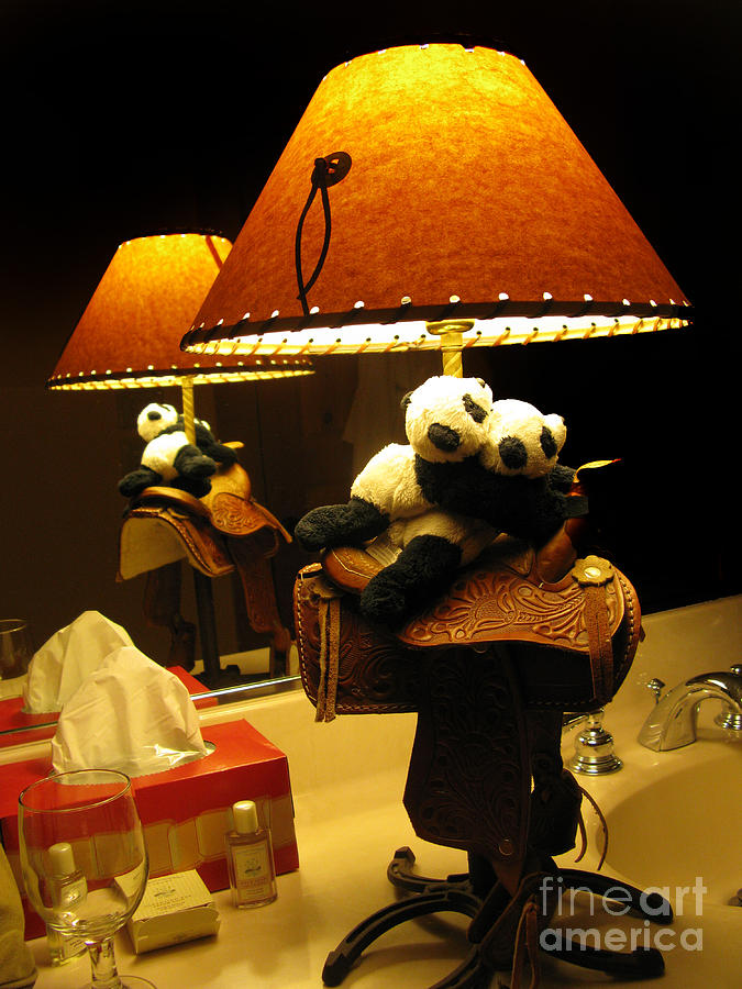 Baby Panda Photograph - Baby Pandas In A Saddle  by Ausra Huntington nee Paulauskaite