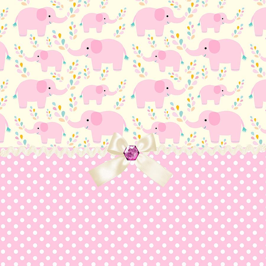 Baby Pink Elephants Digital Art By Debra Miller