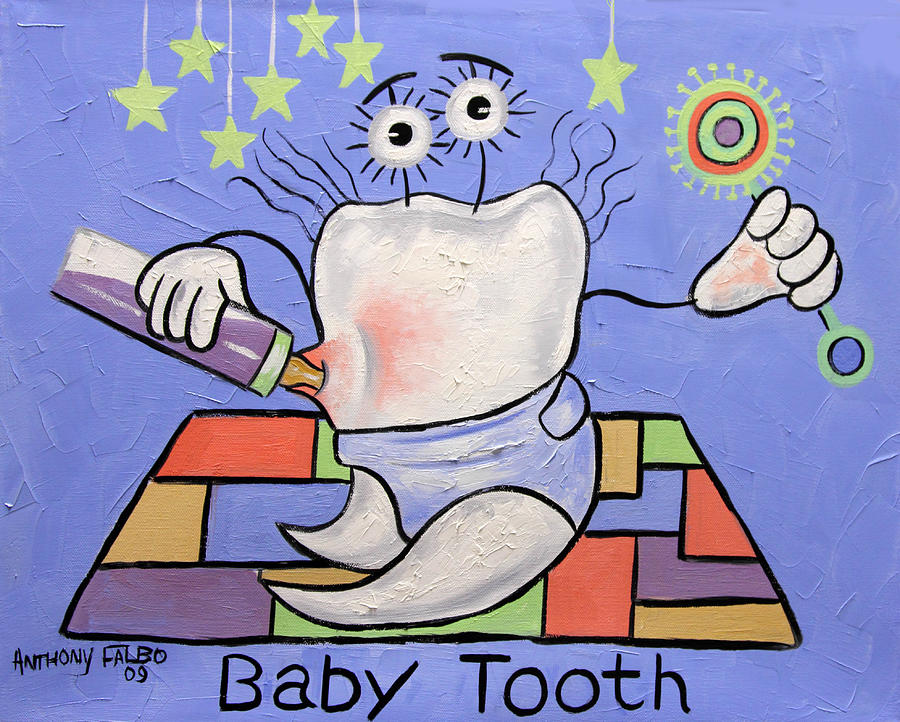 Baby Tooth Painting - Baby Tooth by Anthony Falbo
