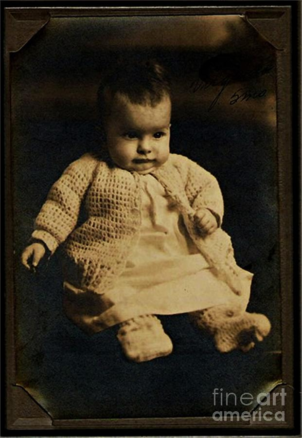 Baby Photograph - Baby Virginia 1930 by Unknown