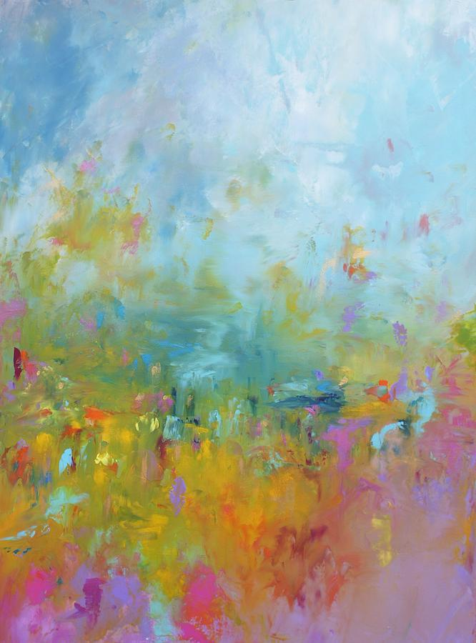 Abstract Painting - Baby Youre A Firework by Sally Kelly