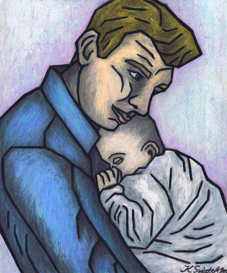 Baby Painting - Babys Lullaby by Kamil Swiatek