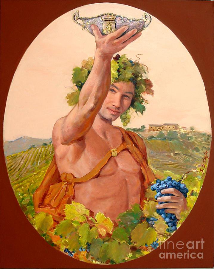 Bacco Painting - Bacco Di Kokomani by Sefedin Stafa