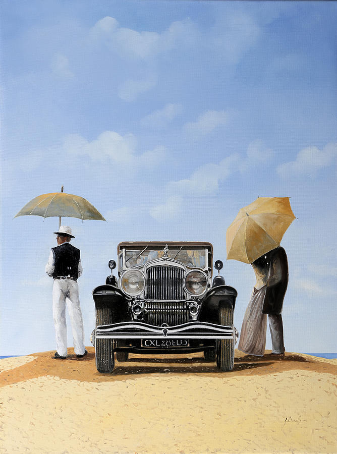 Desert Painting - Baci Sulla Duna by Guido Borelli