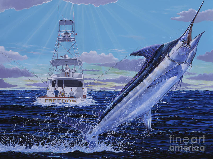 Marlin Painting - Back Her Down Off00126 by Carey Chen