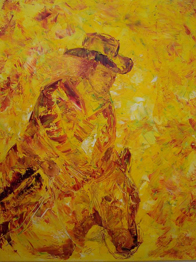 Back In The Saddle Painting by Gunter  Tanzerel