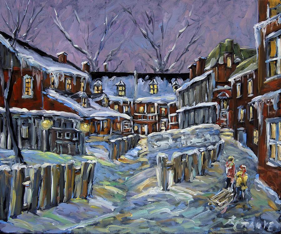 Canada Painting - Back Lanes Buddies By Prankearts by Richard T Pranke