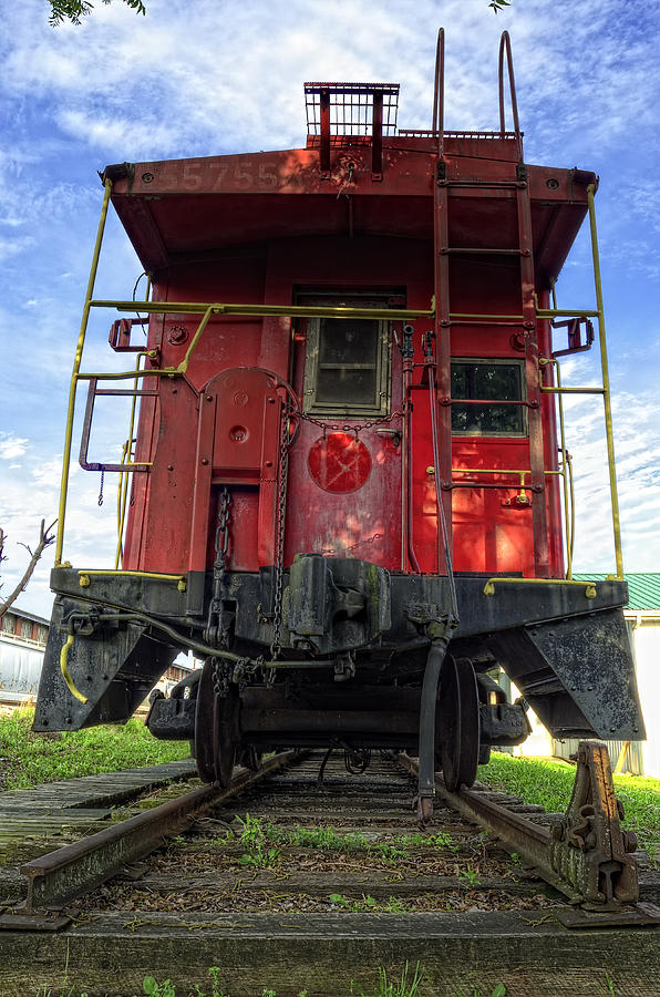 Caboose Photograph - Back Of The Line by Steve Hurt