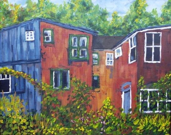 Toronto Painting - Back Of The Wall Cabbagetown by Diane Arlitt