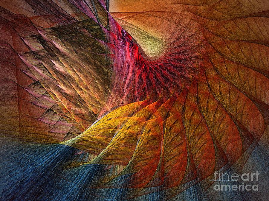 Abstract Digital Art - Back On Earth Abstract Art Print by Karin Kuhlmann