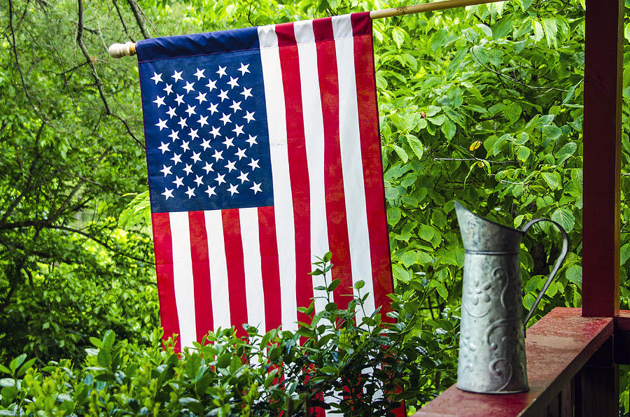 American Photograph - Back Porch Americana by Carolyn Marshall