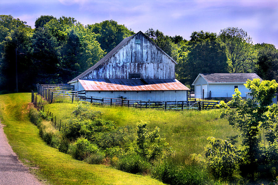 Landscape Photograph - Back Roads Country Barn by Virginia Folkman