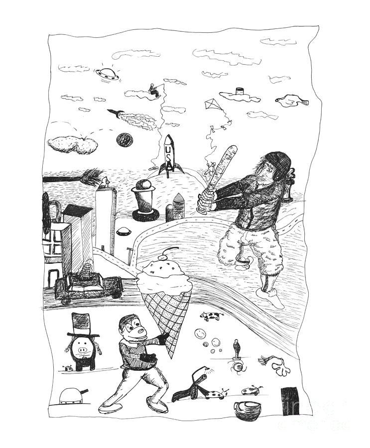 Back Rooms Of My Mind Door 17812 Drawing - Back Rooms Of My Mind Door 17812 by Michael Mooney