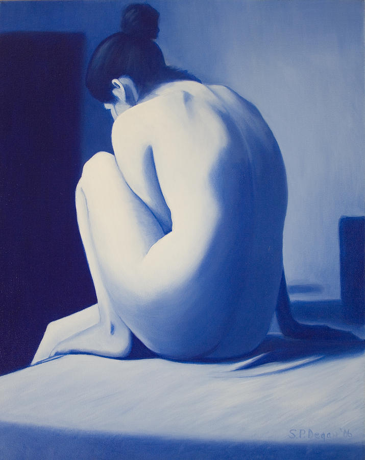 Figure Painting - Back To Blue by Stephen Degan