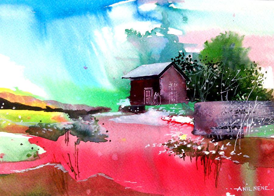 Pavilion Painting - Back To Pavilion by Anil Nene