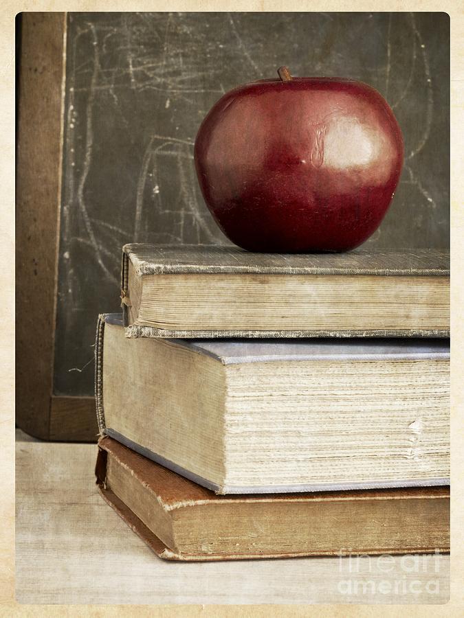 Back Photograph - Back To School Apple For Teacher by Edward Fielding
