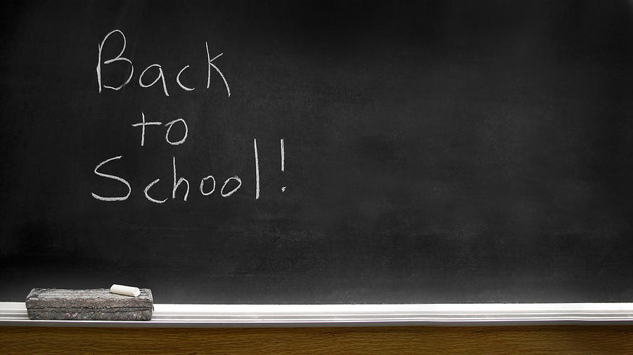 Back To School Chalkboard Photograph By Lane Erickson