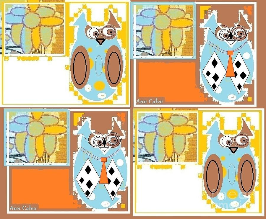 Back to School Owl by Ann Calvo