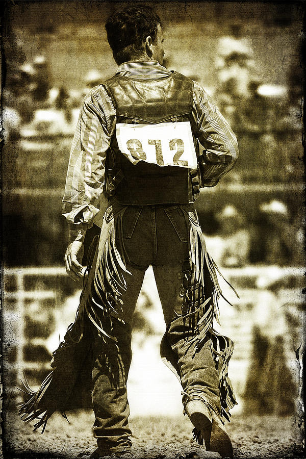 Rodeo Photograph - Back To The Chutes by Lincoln Rogers