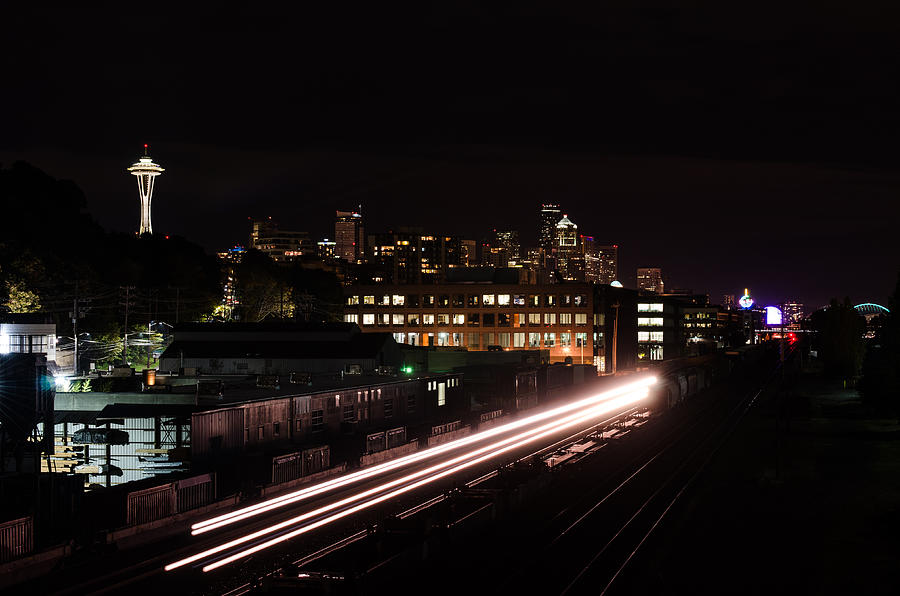 Puget Sound Photograph - Back To The Future Arrives by Brian Xavier