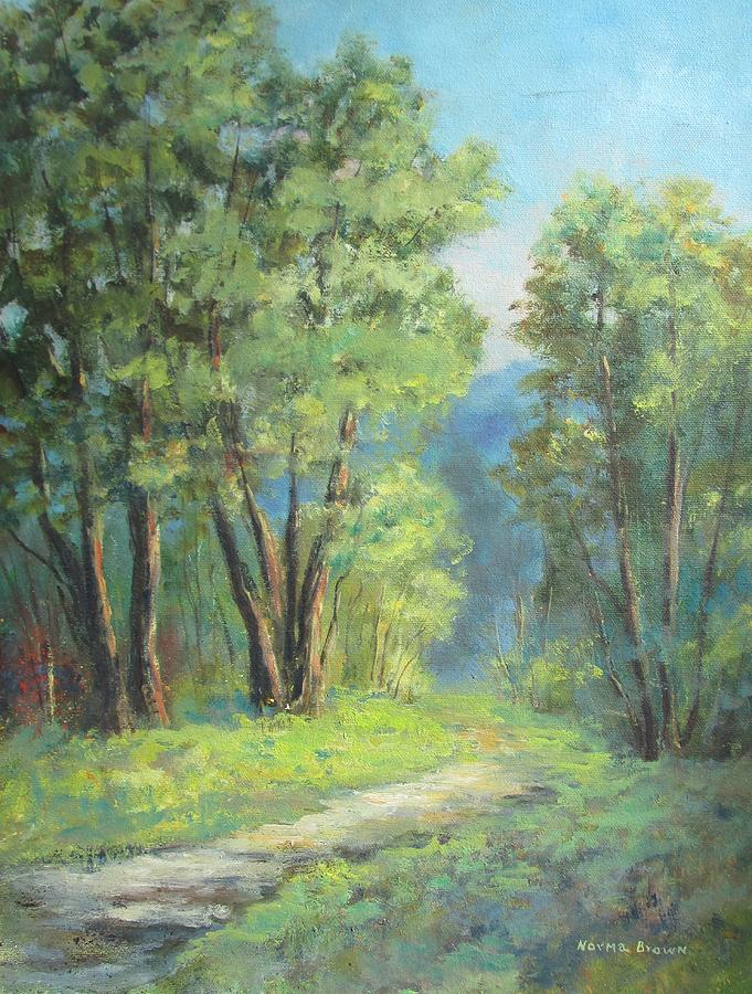 Norma Painting - Back Woods by Norma Brown