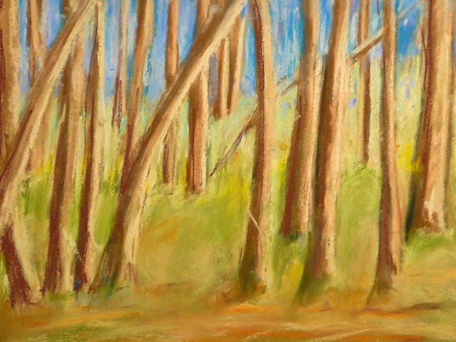 Woods Painting - Back Yard by Valerie Lynch