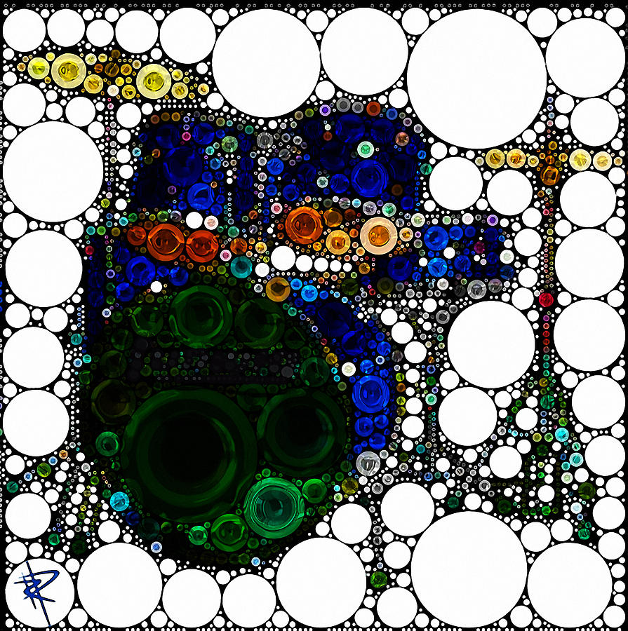 Abstract Mixed Media - Backbeat Bubbles by Russell Pierce